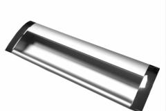 Ручка Врезная матовый хром металл, длина 128 мм