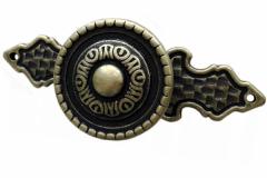 Ручка-кнопка-бронза-античная-накладка