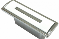 Ручка-кнопка-L90-хромбелый-белая-вставка