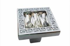 Ручка-кнопка 25мм хром кристаллы стразы
