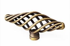 Ручка-кнопка бронза 55мм