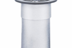 Опора регулируемая 50х100мм пластик матовый хром