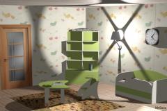 Детская, зелёный/бежевый