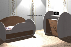 Детская кровать + комод под дерево