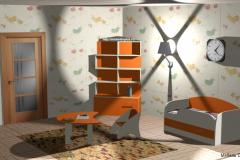 Детская, оранжевый/бежевый