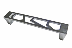 Ручка-скоба длина 128мм хром перфорация калейдоскоп