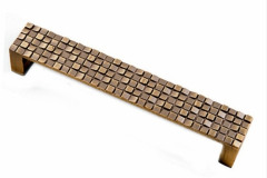 Ручка-скоба бронза длина 128мм мозаика